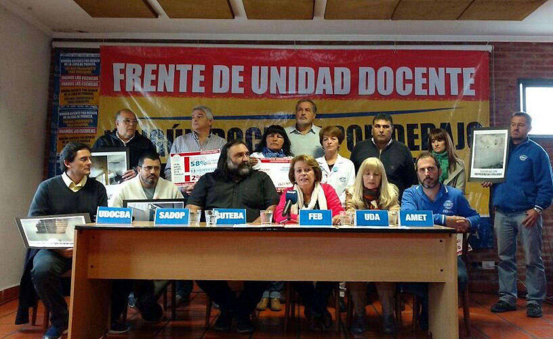 """Duro mensaje a Vidal del Frente de Unidad Docente: """"Si no se resuelve esta situación el lunes salimos a anunciar medidas de fuerza"""""""