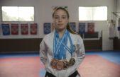 La futura Pareto, Martina Sánchez ganadora de 5 medallas en el Mundial de Taekwondo en Inglaterra