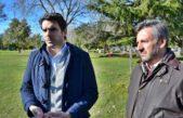 San Nicolás / Passaglia recorrió el Parque San Martín  que será totalmente renovado