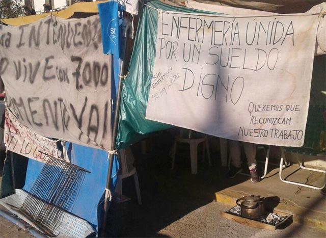 Cañuelas: Enfermeros en conflicto salarial se reúnen con la intendente Marisa Fassi