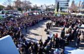 La Plata / Garro encabezó el acto de promesa a la bandera junto a más de 800 chicos