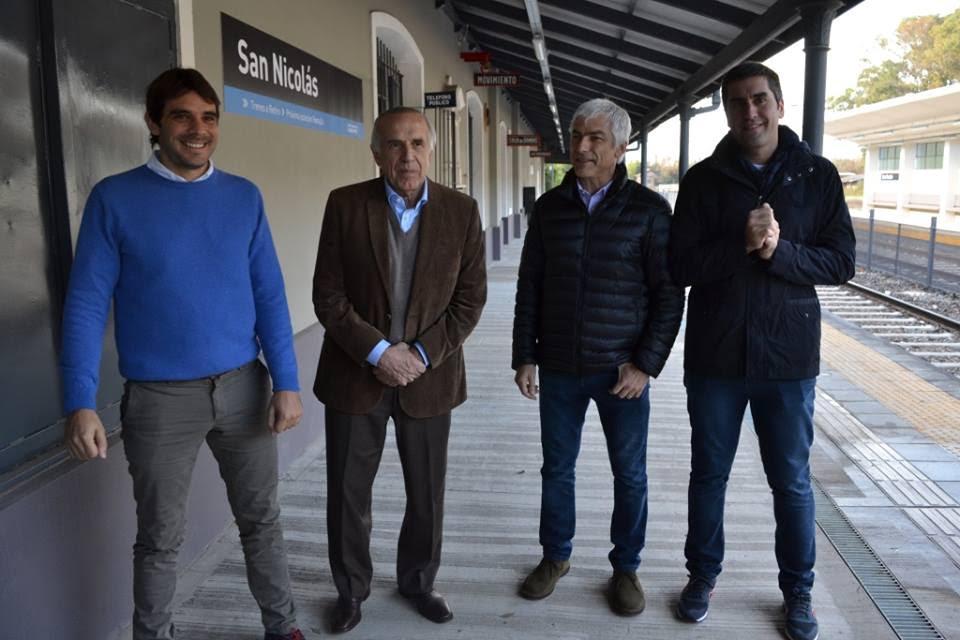 San Nicolás / Passaglia reinauguró la Estación de Tren