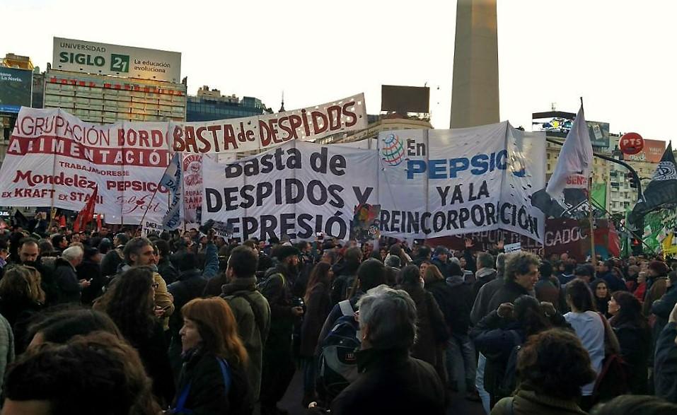 Despedidos de Pepsico llevarán a cabo una nueva jornada de protesta frente al Obelisco