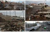 Monte Hermoso / Tareas de reconstrucción y limpieza luego del temporal