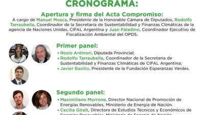 """En Diputados se llevará a cabo la jornada """"Provincia Verde"""", financiamiento climático y Desarrollo sustentable"""