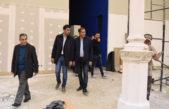 El intendente platense Julio Garro y el titular de diputados, Manuel Mosca recorrieron las obras de restauración del Pasaje Dardo Rocha
