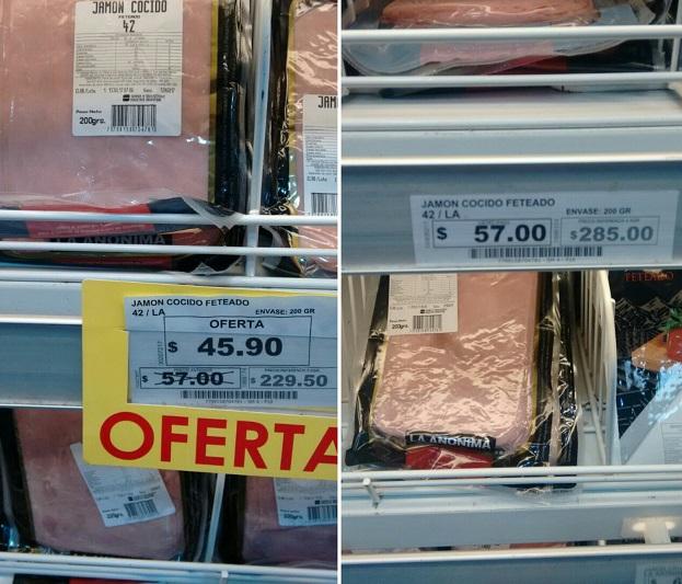 El supermercado del Secretario de Comercio aumentó los precios durante el día de descuentos del Banco Provincia