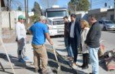 Olavarría / Lordén y Galli realizaron una recorrida por obras y dialogaron con vecinos