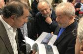 Scioli y Taiana junto a Lula en el lanzamiento del Instituto Futuro