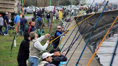 Se viene el quinto concurso de pesca de pejerrey desde el murallón de Punta Lara