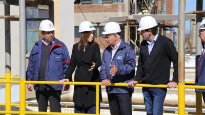 Vidal visitó la planta potabilizadora de Punta Lara que está siendo renovada