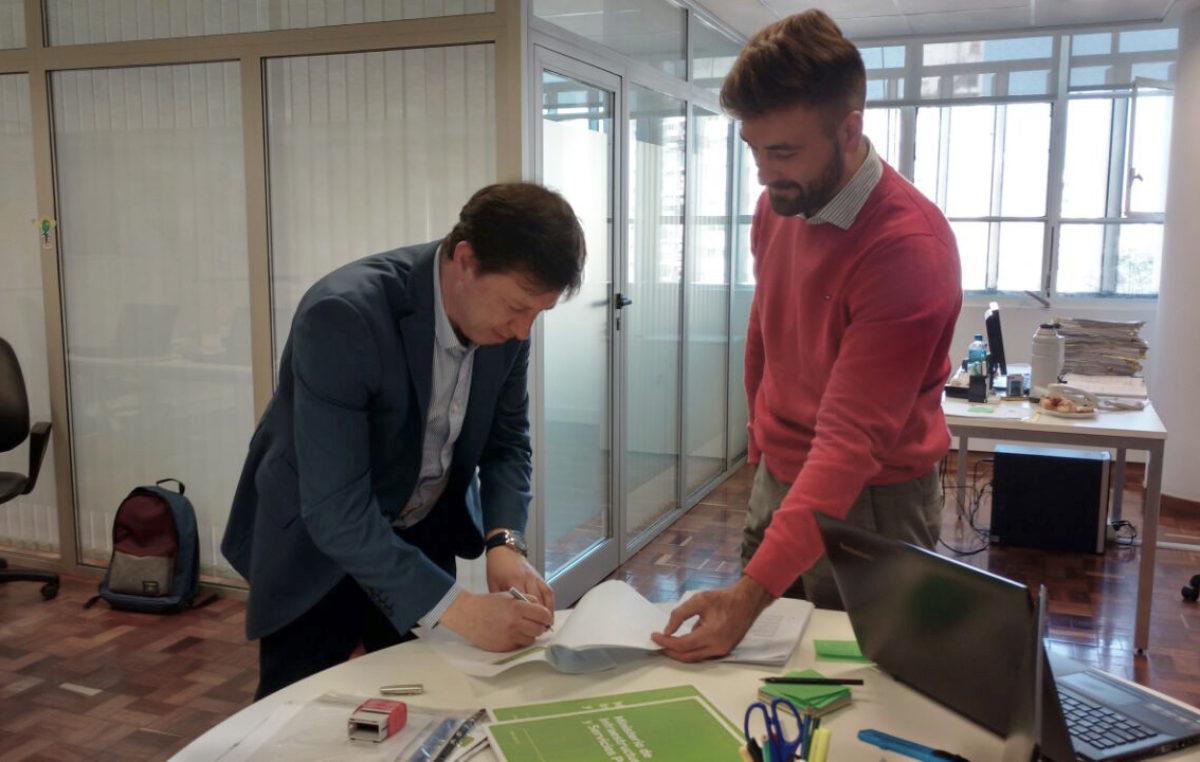 Villarino / Bevilacqua firmó el convenio para la última etapa de los pluviales en Pedro Luro