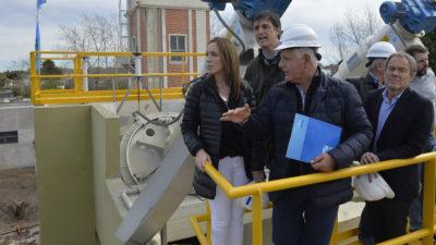 Punta Alta / Vidal recorrió la planta depuradora que se pondrá en funcionamiento tras 15 años de inactividad