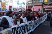 Movilización de trabajadores de Pepsico en reclamo del cumplimiento de un fallo judicial