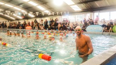 """Pinamar / Meolans y Otero brindaron una clínica de natación en el marco del programa """"Campus con tu ídolo"""""""
