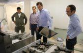 Bolívar / Bucca recorrió la obra de la cocina y lavadero del hospital municipal Capedroni