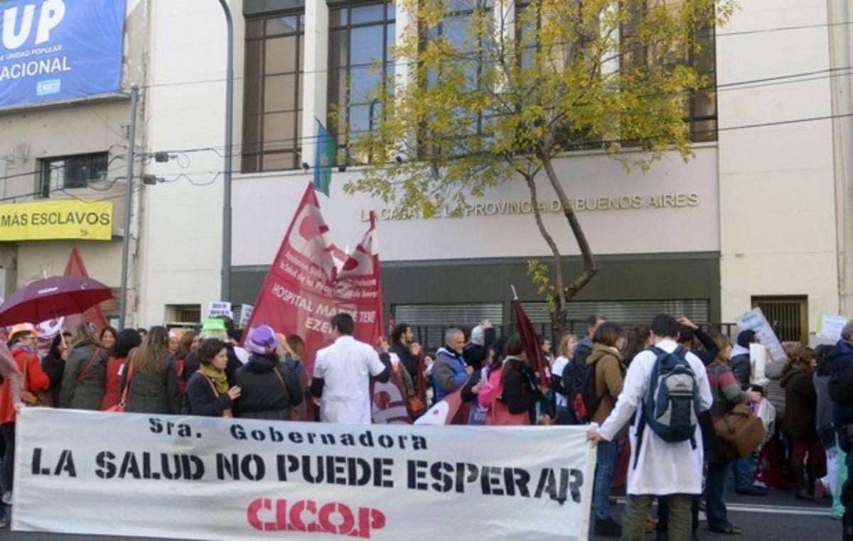 Nueva jornada de protesta de CICOP por incumplimiento de la paritaria
