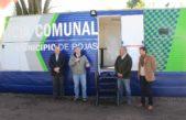 Rojas / Inauguraron la Casilla de Control de la Policía Comunal cedida por Monsanto