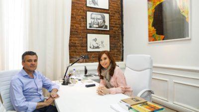 "Cristina recibió con brazos abiertos al ""arrepentido"" intendente de Hurlingham, Juanchi Zabaleta"