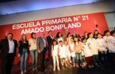 """Tigre / Se inauguró la escuela primaria Nº21 """"Amado Bonpland"""""""