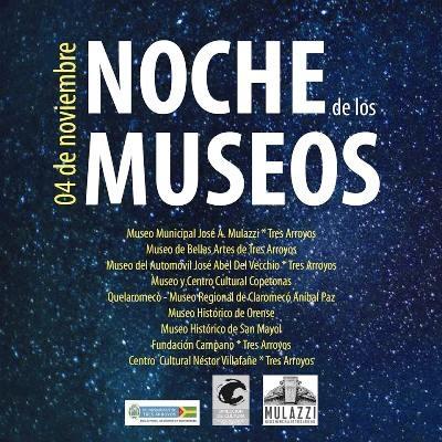 Tres Arroyos / Se realizarán diversas actividades para celebrar La Noche de los Museos