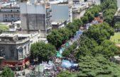 Sindicatos en unidad protagonizaron una multitudinaria marcha a Gobernación