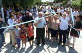 San Miguel / Méndez inauguró un nuevo pavimento en Santa María