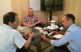 Bolívar / Pisano realizó gestiones en la Dirección de Energía por la reanudación de la obra de la línea 132K