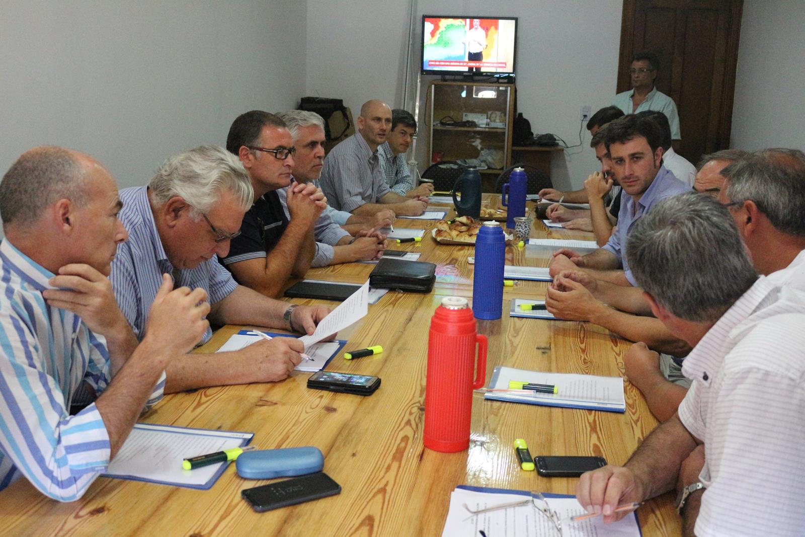 Intendentes del interior se reunieron para analizar el Pacto Fiscal de Vidal