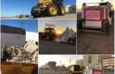 Monte Hermoso limpia sus playas con maquinaria especializada en arena