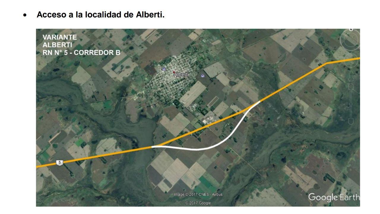 Alberti pide a Vialidad Nacional una modificación en la traza de la Autopista de Luján a La Pampa