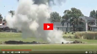 VIDEO / Encontraron e hicieron explotar una bomba antiáerea en un country de Escobar