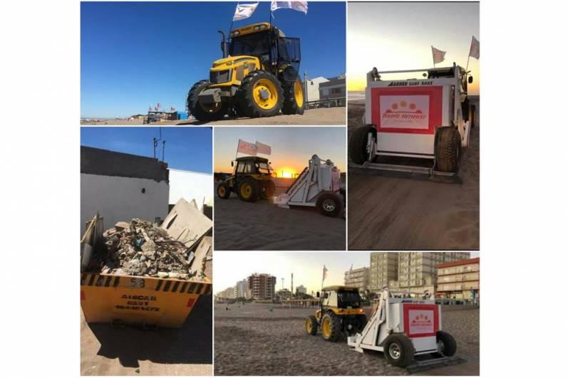 Utilizan maquinaria de última generación para la limpieza en Monte Hermoso