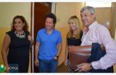 En plena negociación con docentes el ministro Sanchez Zinny visitó Henderson