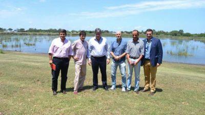 Cañuelas / Arrieta se reunión con funcionarios provinciales para planificar inicio, plazos y evolución de obras de saneamiento