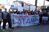 """Checkinazo en Aeroparque: """"No hay intención de Latam ni de Securitas de llegar un acuerdo con los trabajadores"""""""