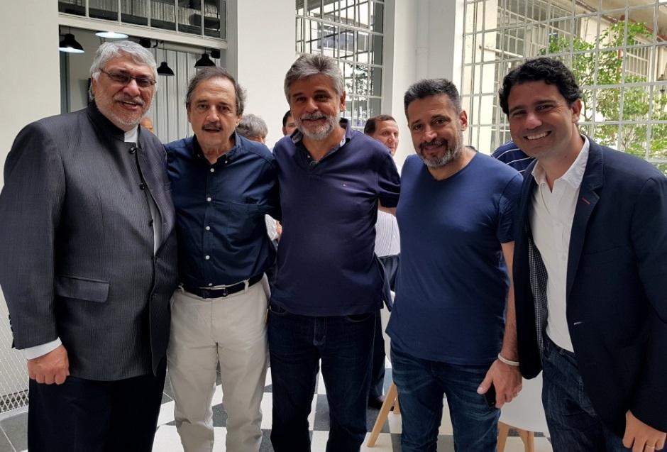 Miembros de COPPPAL en Argentina recibieron a la fórmula de Alianza Ganar de Paraguay y al ex presidente Lugo