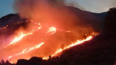 Desesperación por el avance del fuego en Sierra de la Ventana