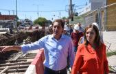 Vidal estuvo con Garro recorriendo obras hidráulicas en La Plata
