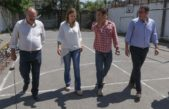 Vidal y Urreli visitaron las obras de la escuela Nº 54 en Monte Chingolo