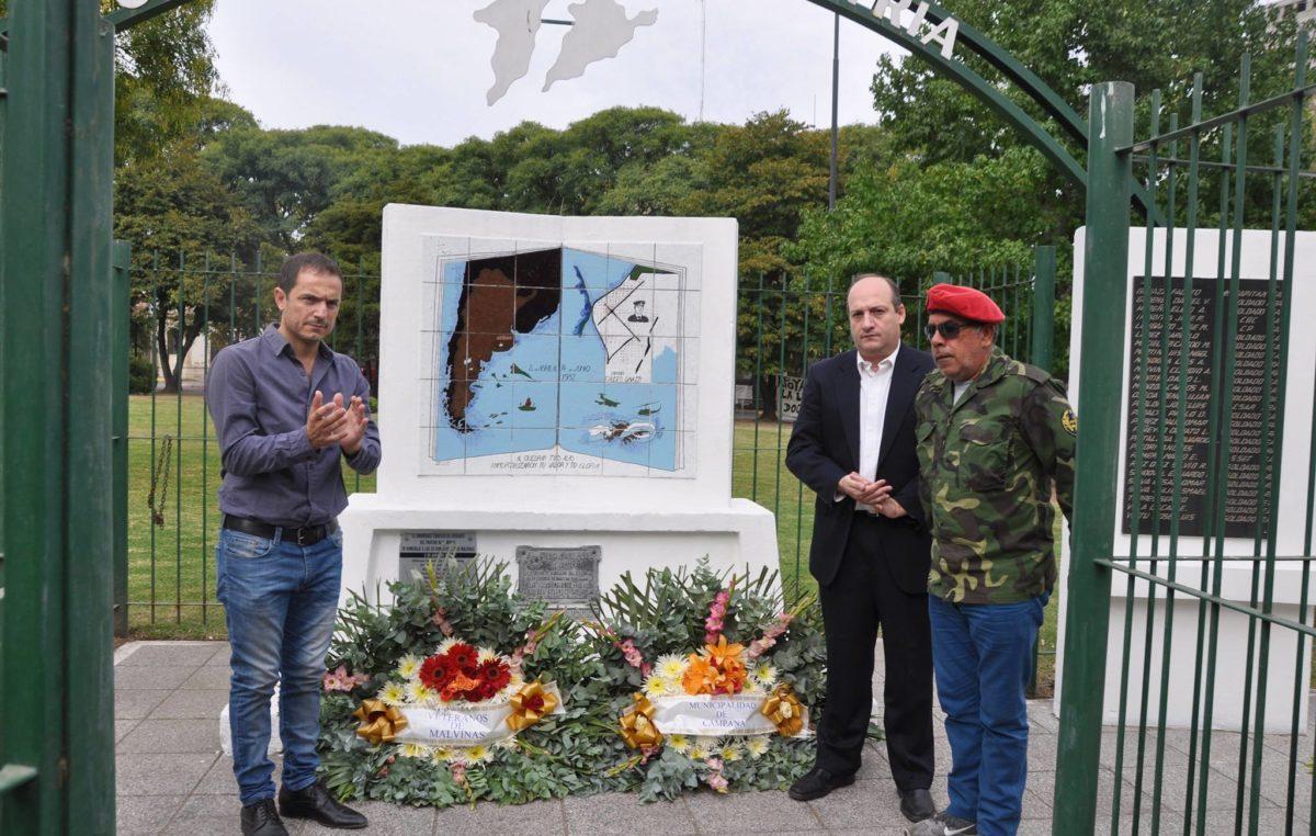 Campana / Homenajearon al capitán Fausto Gavazzi caído en malvinas