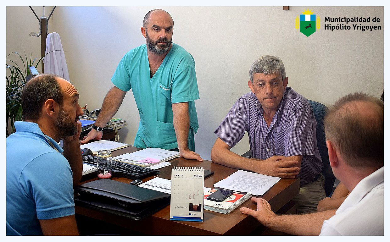 H. Yrigoyen / El jefe comunal, Jorge Cortes se reunió con autoridades del PAMI