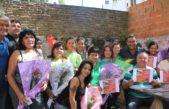 Dirigentes de Camioneros La Plata acompañaron a las mujeres del barrido en el paro por el #8M