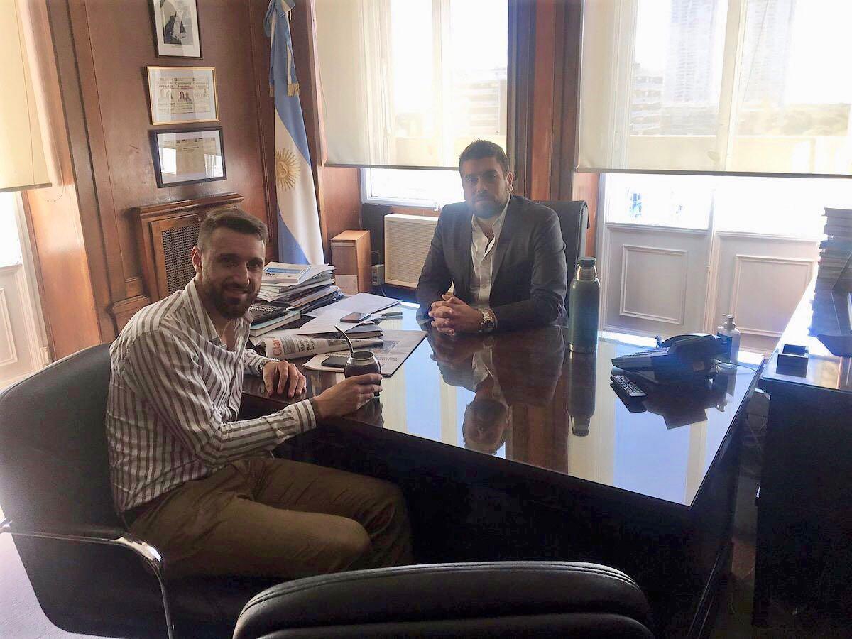 """Walter Lanaro tras reuniones de gestión """"Con Lucas y Hernán trabajamos fuertemente para cambiar la realidad de nuestros vecinos"""""""
