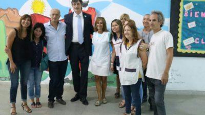 Lanús / Grindetti y Bullrich inspeccionaron obras en Monte Chingolo y Villa Jardín