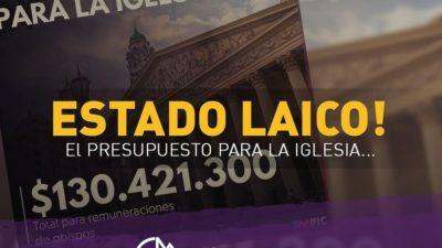 """Franja Morada quiere quitar los sueldos a los obispos y tildó al Papa de """"hipócrita"""""""