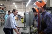 Garro visitó la empresa Argentrade y recordó el incremento en la actividad económica y disminución del empleo en la ciudad capital