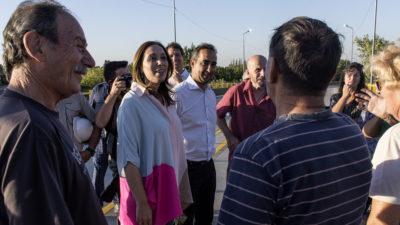 Morón / Tagliaferro estuvo con Vidal en la inauguración del Puente Lebensohn