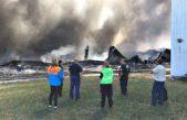 La Plata / Continúan los operativos por el incendio de la fábrica Mafissa