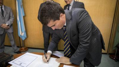 """Allan  asumió su segundo período en el Consejo de la Magistratura y dijo """"estoy comprometido con transformar la justicia"""""""